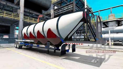 Semi-trailer-Zement-LKW für American Truck Simulator