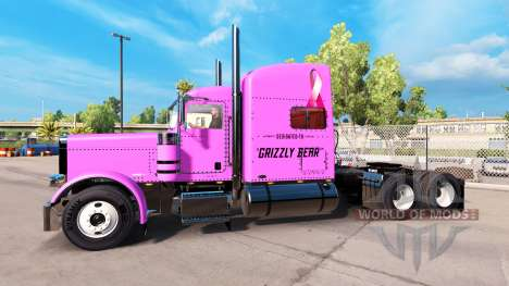 La peau Ourson Veasna tracteur Peterbilt 389 pour American Truck Simulator