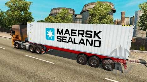La Semi-Remorque Maersk Sealand pour Euro Truck Simulator 2
