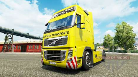 Gertzen Transporte skin für den Volvo truck für Euro Truck Simulator 2