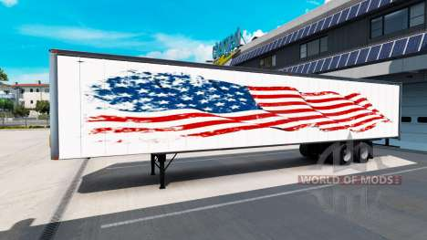 Eine Sammlung von skins auf dem Anhänger für American Truck Simulator