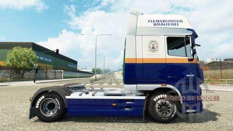 Flensburger Brauerei skin for DAF truck für Euro Truck Simulator 2