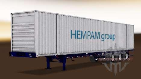 Autonomous semi-container ship pour American Truck Simulator