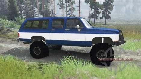 Chevrolet Suburban 1982 [03.03.16] pour Spin Tires