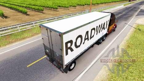 Haut Fahrbahn auf den trailer für American Truck Simulator