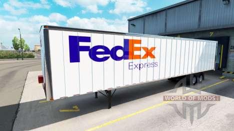 Skins UPS und FedEx für Anhänger für American Truck Simulator