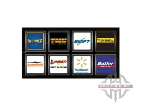Logos von Unternehmen in den USA für American Truck Simulator