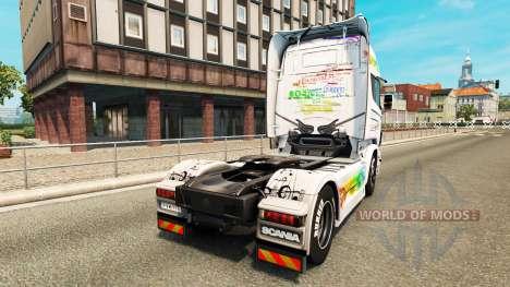 La musique de la peau pour Scania camion pour Euro Truck Simulator 2