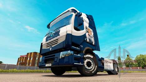 Haut Williams F1 Team Renault-truck für Euro Truck Simulator 2