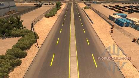 Jaune marquage routier pour American Truck Simulator