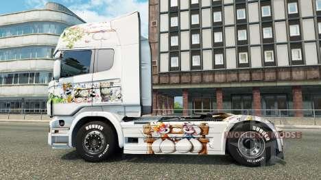 La peau Kinder sur le tracteur Scania pour Euro Truck Simulator 2