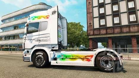 Musik-skin für den Scania truck für Euro Truck Simulator 2