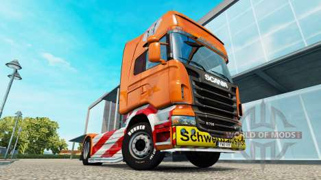 Schwertransport skin für den Scania truck für Euro Truck Simulator 2