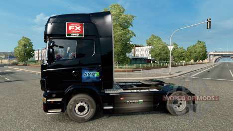 AMD FX-skin für den Scania truck für Euro Truck Simulator 2