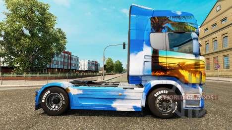 La peau de l'Île sur le tracteur Scania pour Euro Truck Simulator 2