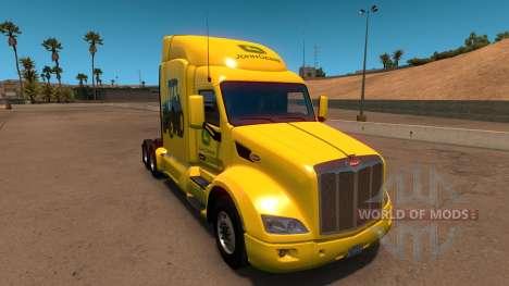 John Deere de la peau pour Peterbilt 579 pour American Truck Simulator