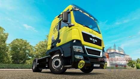 BVB skin für MAN-LKW für Euro Truck Simulator 2