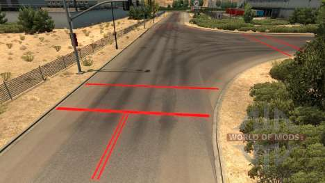 Rouge marquage routier pour American Truck Simulator