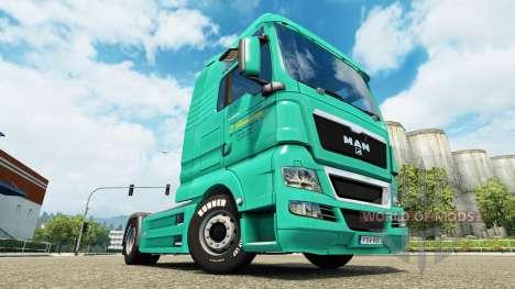 La peau de J. Simmerer sur le camion de l'HOMME pour Euro Truck Simulator 2