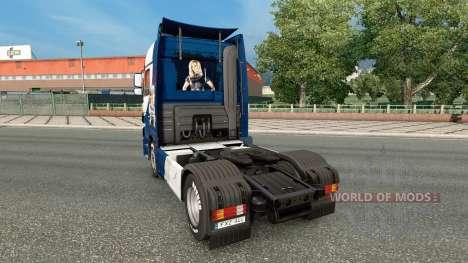 La peau Williams F1 Team sur le tracteur Mercede pour Euro Truck Simulator 2