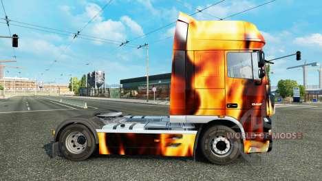 Haut das Feuer auf den LKW DAF für Euro Truck Simulator 2