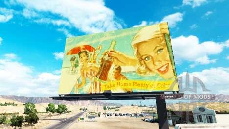 Vintage Werbung auf Plakaten für American Truck Simulator