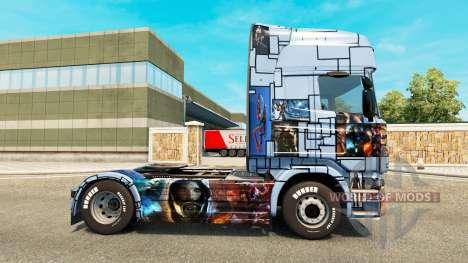La peau de Mass Effect 3 sur le tracteur Scania pour Euro Truck Simulator 2