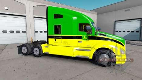 La peau de John Deere tracteurs Peterbilt et Ken pour American Truck Simulator
