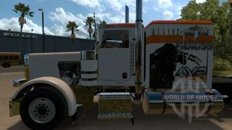 T-D-S Alien vs Predator Skin for Peterbilt 389 für American Truck Simulator