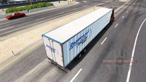 La peau Roadruner sur la remorque pour American Truck Simulator