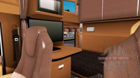 Intérieur brun Kenworth T680 pour American Truck Simulator