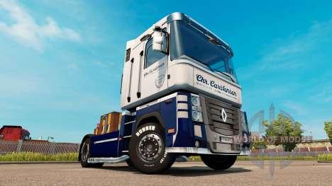 Carstensen de la peau pour Renault Magnum tracte pour Euro Truck Simulator 2
