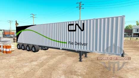 Der Sattelauflieger, Container 53 für American Truck Simulator
