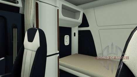 L'intérieur de luxe dans un Peterbilt 579 pour American Truck Simulator