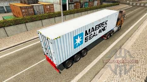 Der Auflieger Maersk Sealand für Euro Truck Simulator 2