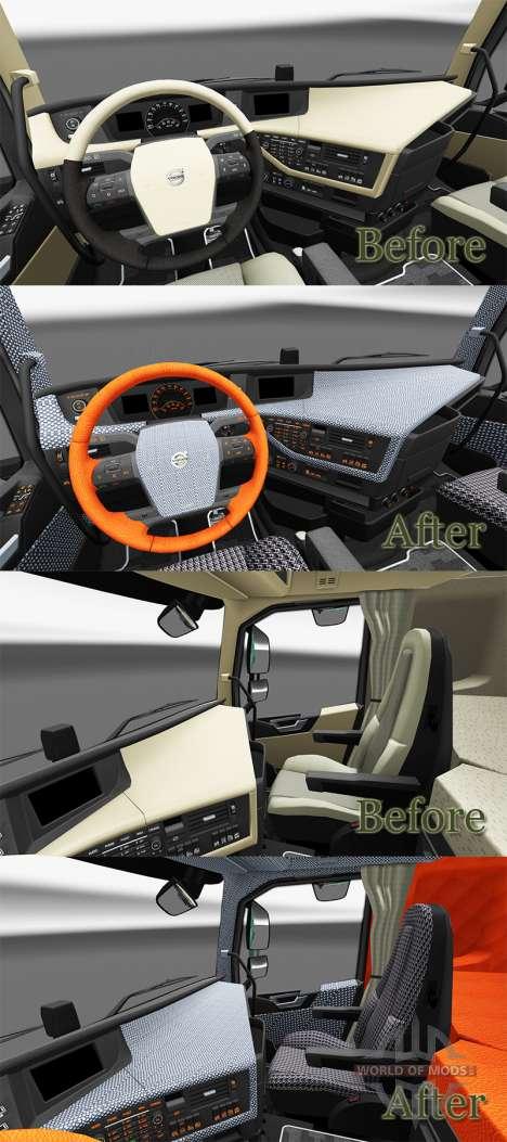 Plaid à l'intérieur de la Volvo FH pour Euro Truck Simulator 2