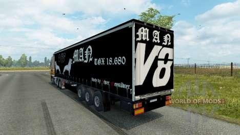 Trailer MAN V8 für Euro Truck Simulator 2