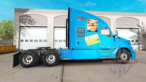 La peau Château Blanc sur un tracteur Kenworth pour American Truck Simulator