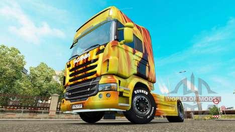 Le feu de la peau pour Scania camion pour Euro Truck Simulator 2