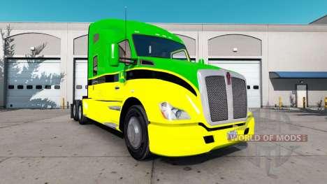 Haut John Deere Traktoren Peterbilt und Kenworth für American Truck Simulator