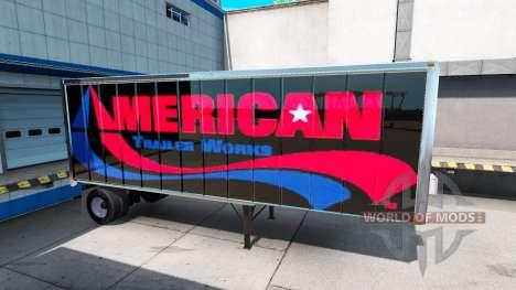 Skins-UPS und American Trailer Funktioniert auf  für American Truck Simulator