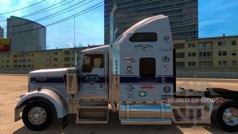 Скин Onkel D Logistik для Kenworth W900 für American Truck Simulator