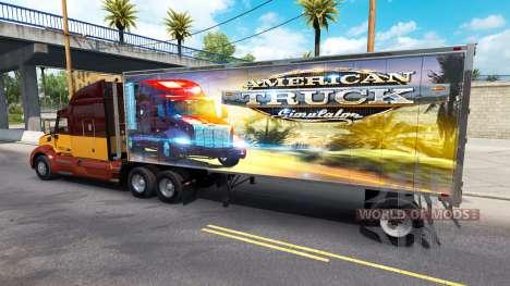 La peau de l'ATS sur la remorque pour American Truck Simulator
