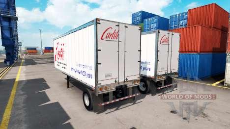 Carlile skin für trailer für American Truck Simulator