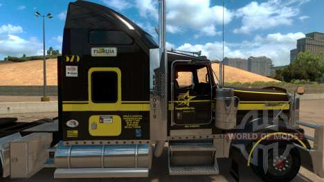 Five Star Transportations skin for Kenworth W900 pour American Truck Simulator