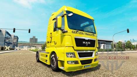 Gertzen Transporte skin für den MAN-LKW für Euro Truck Simulator 2