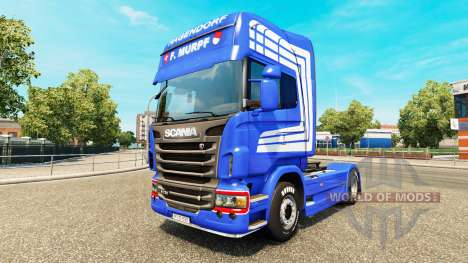 La peau F. MURPF AG camion Scania pour Euro Truck Simulator 2