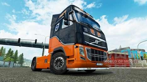 Racing Team skin für Volvo-LKW für Euro Truck Simulator 2