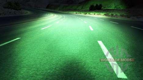 Vert xenons pour American Truck Simulator
