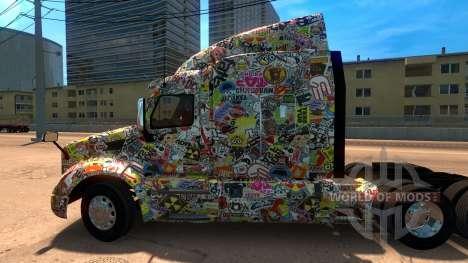 Sticker Bomb скин для Peterbilt 579 für American Truck Simulator